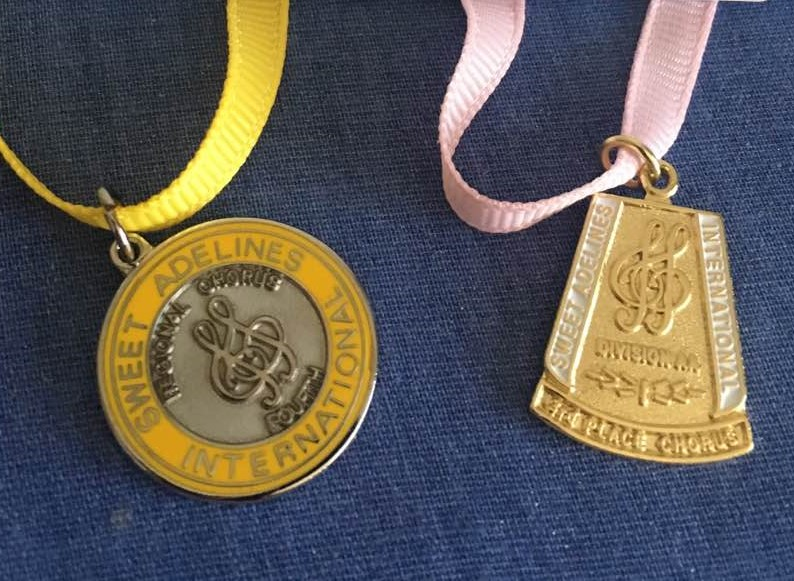 Medals from the 2017 contest